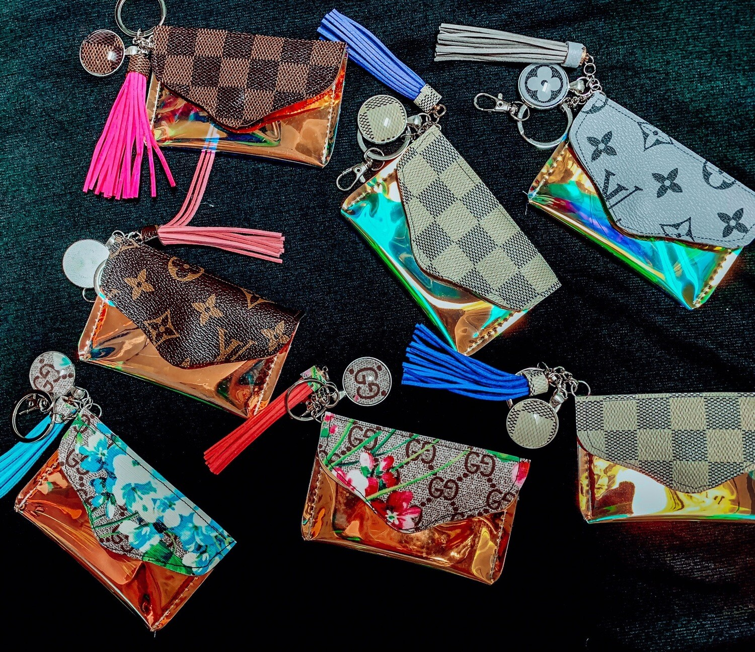 Iridescent Upcycle Card Holder