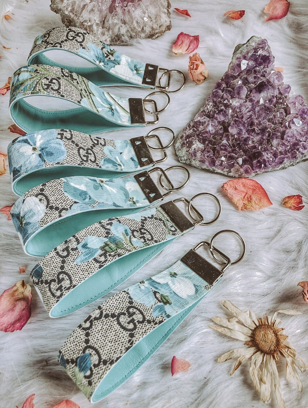 Authentic Gucci Floral Key Fob