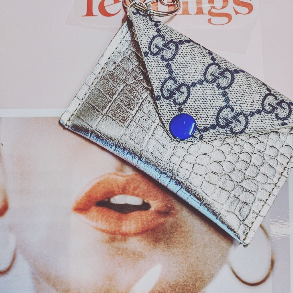 Gucci Silver Blue Cardholder