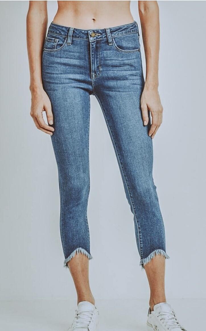 High Waisted Skinny Frey Jeans