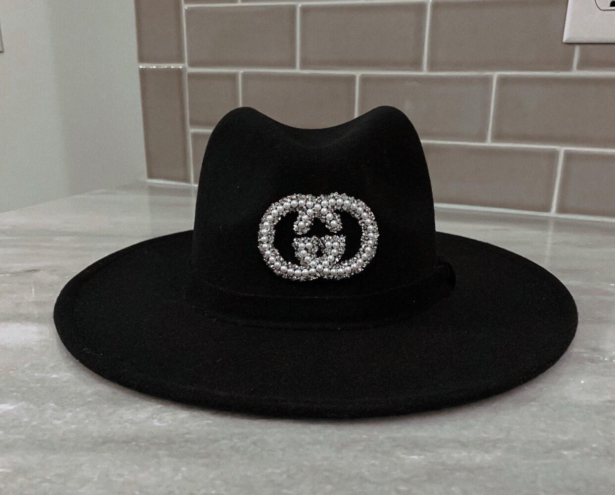 Authentic Gucci Black Glam Hat