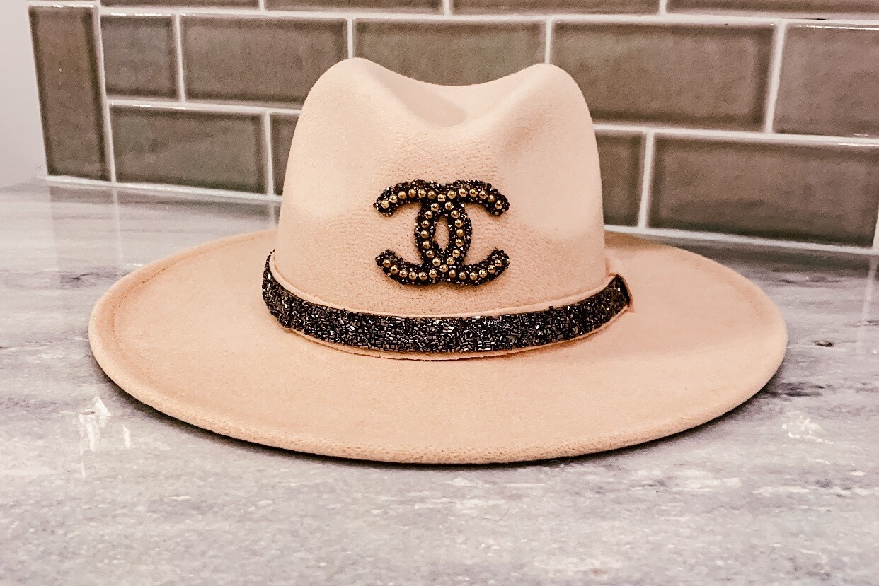 Authentic Chanel Trimmed Glam Hat