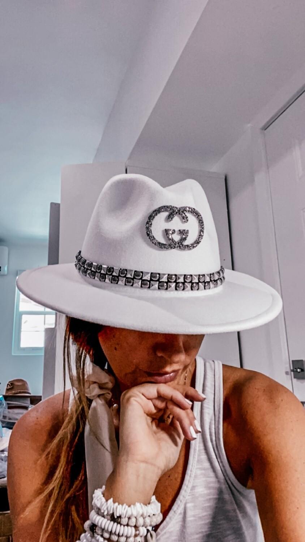 Authentic Gucci Glammed Trim Hat