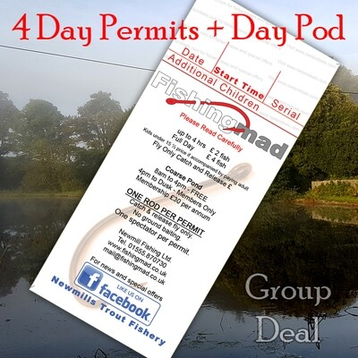 4x Day Permits + Day Shelter