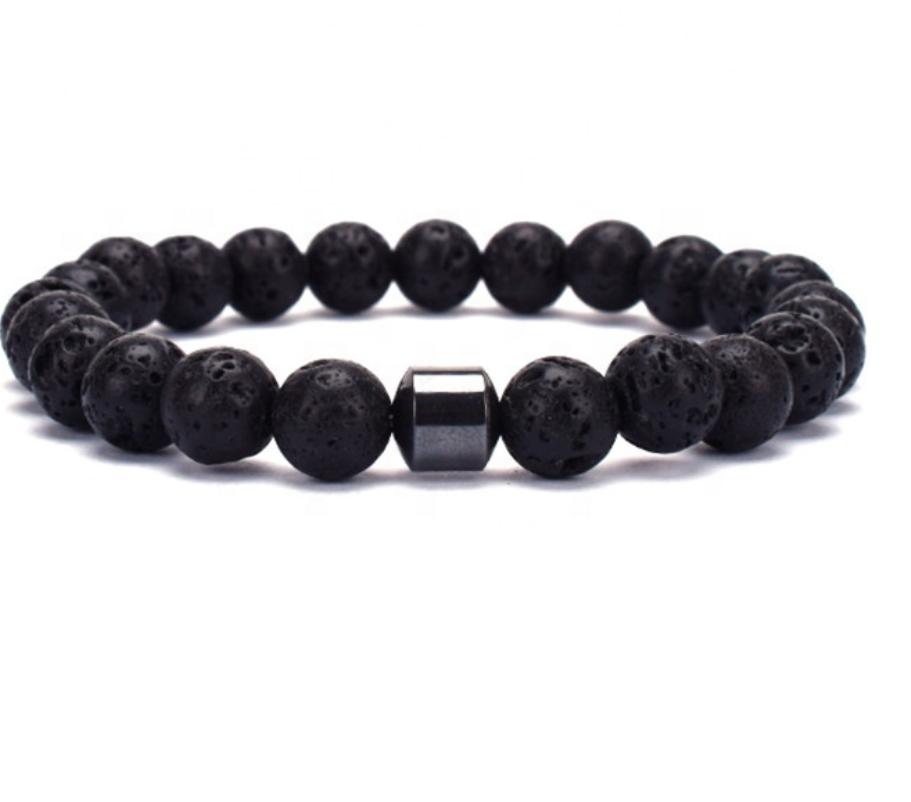 Bracelet Herren Black Lava
