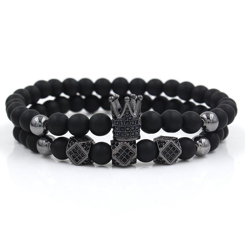 Bracelet Krone Schwarz