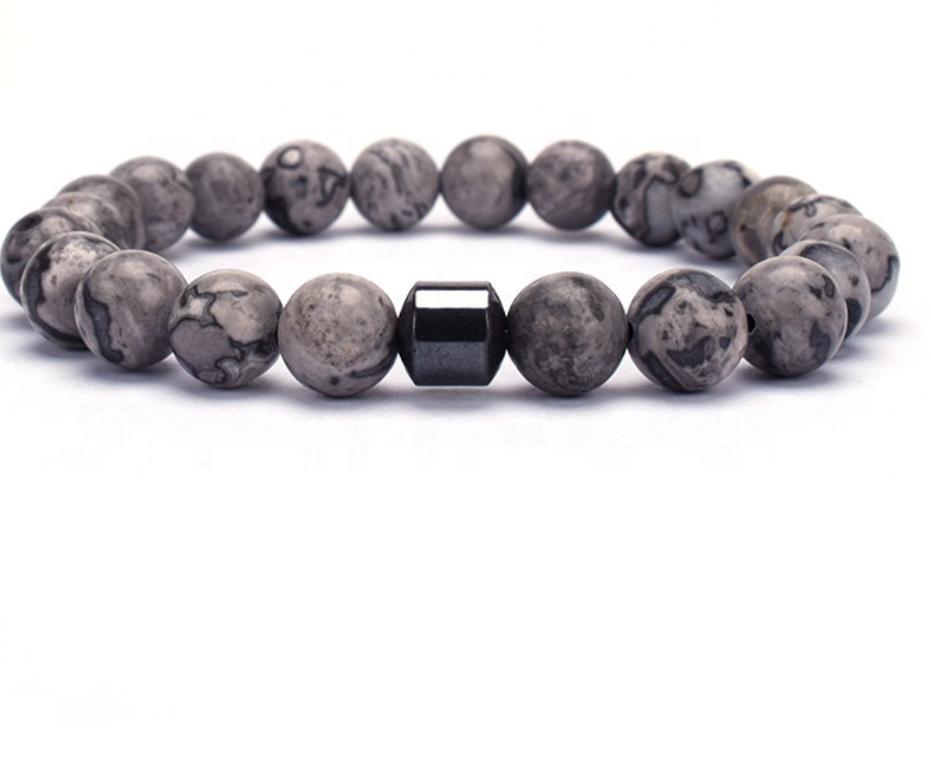Bracelet Herren Grau