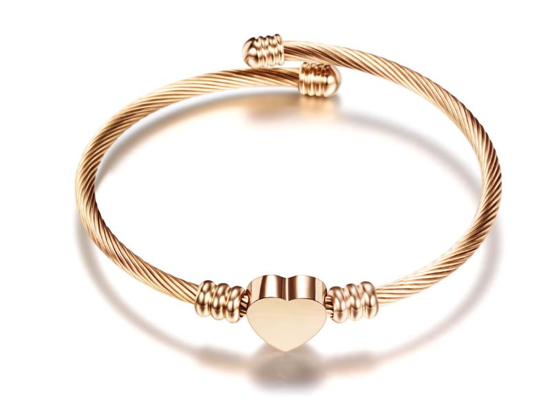 Bracelet Damen - Heart - Rosegold
