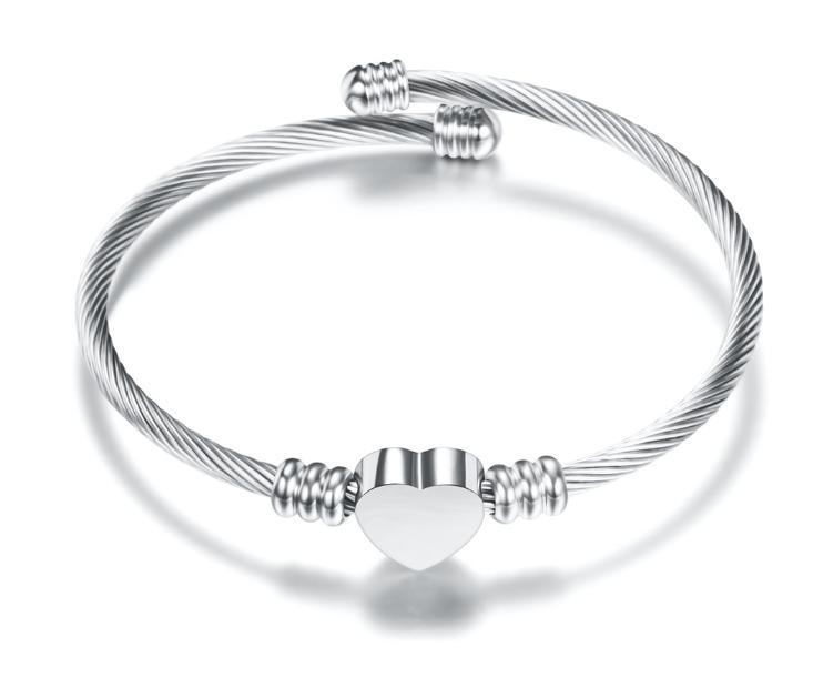 Bracelet Damen - Heart - Silver