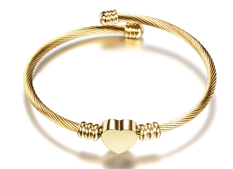 Bracelet Damen - Heart - Gold