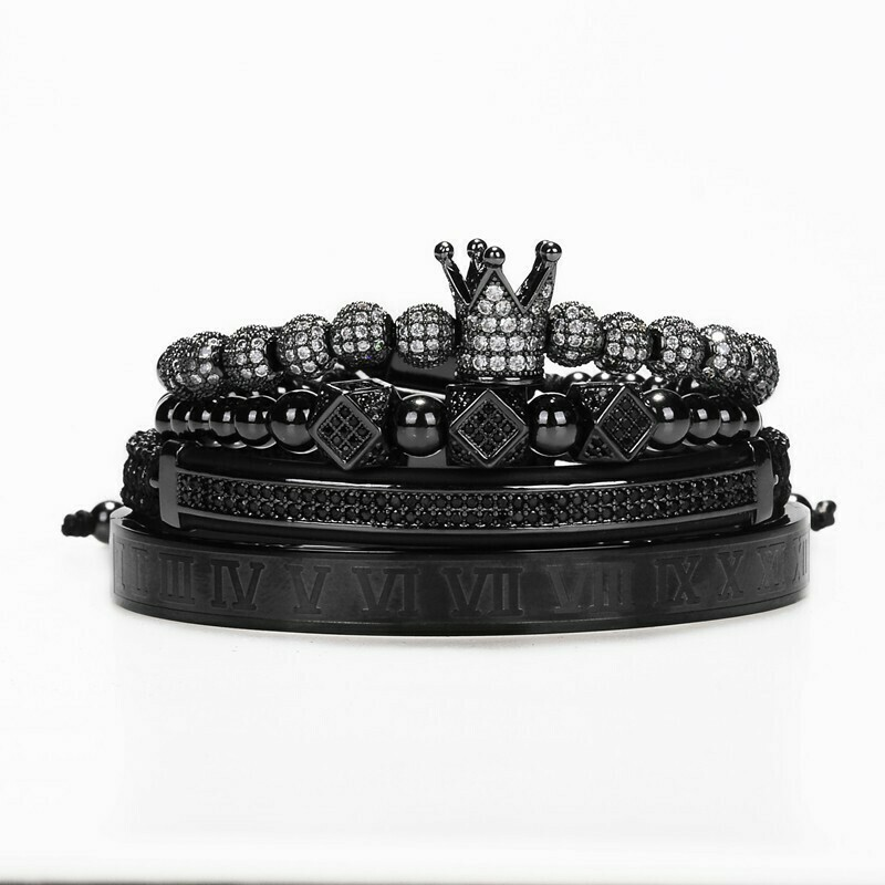 Bracelet 4-Teilig Schwarz