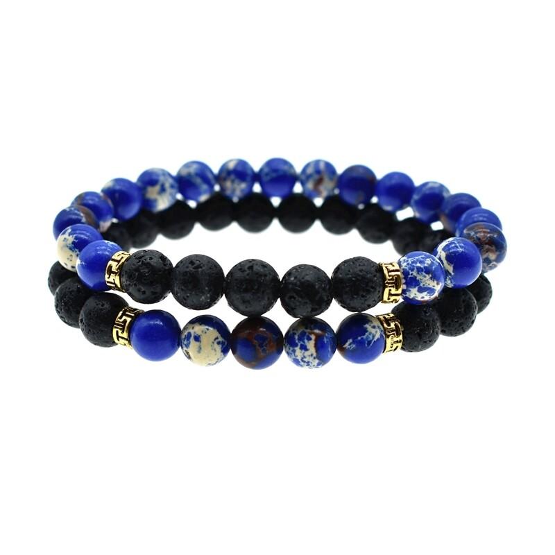 Stone Bracelet Black/BLue