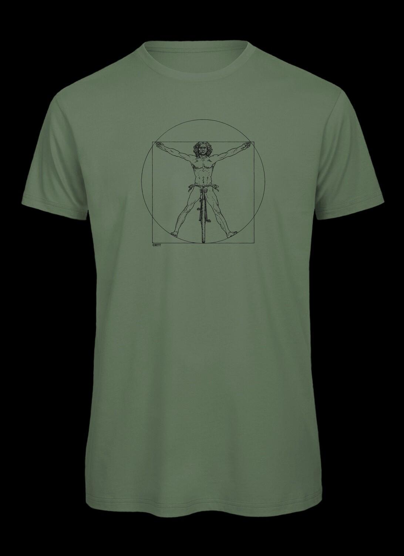 DaVinci, vitruvianischer Mensch auf dem Fahrrad, T-Shirt