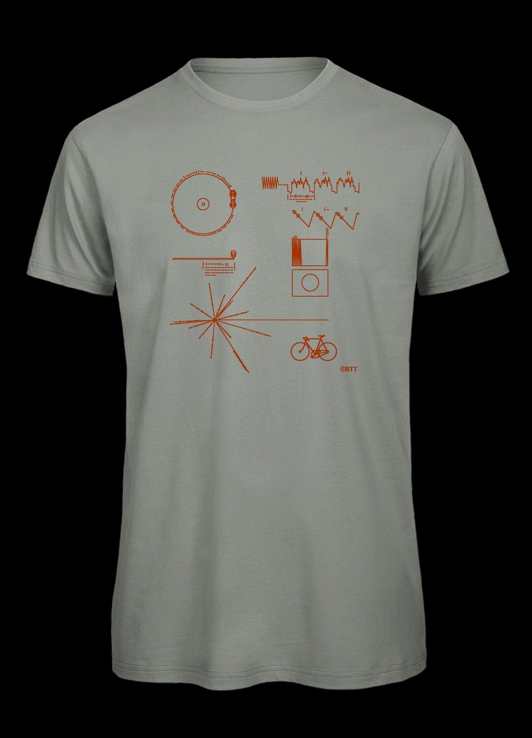 Voyager with bike, T-Shirt