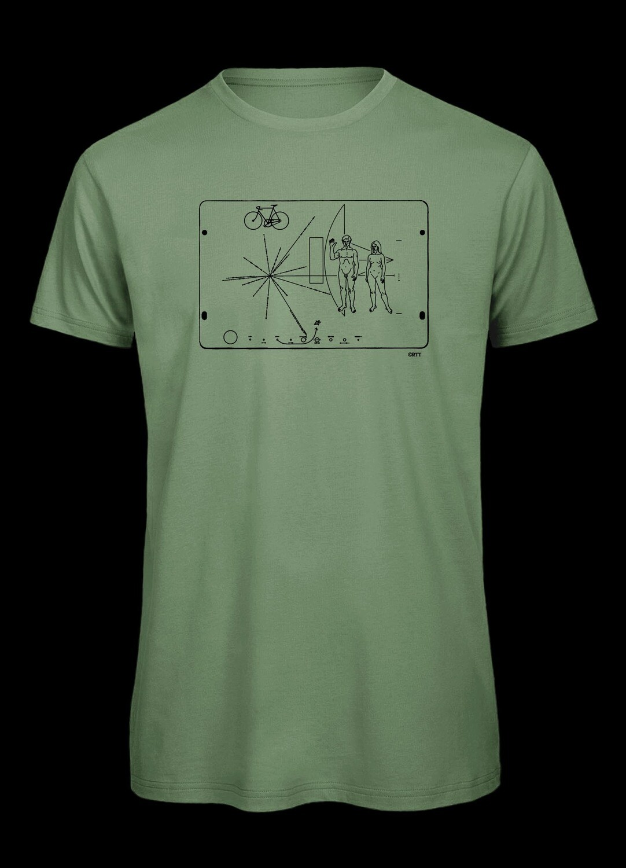 Pioneerplakette mit Fahrrad, T-Shirt