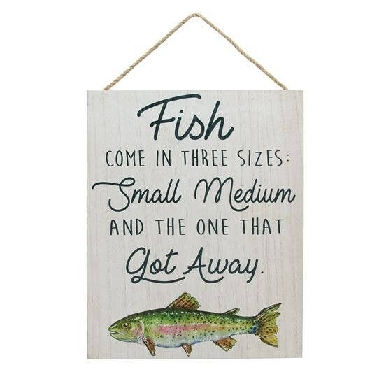 Trout Fishing Rules Wall Sign
