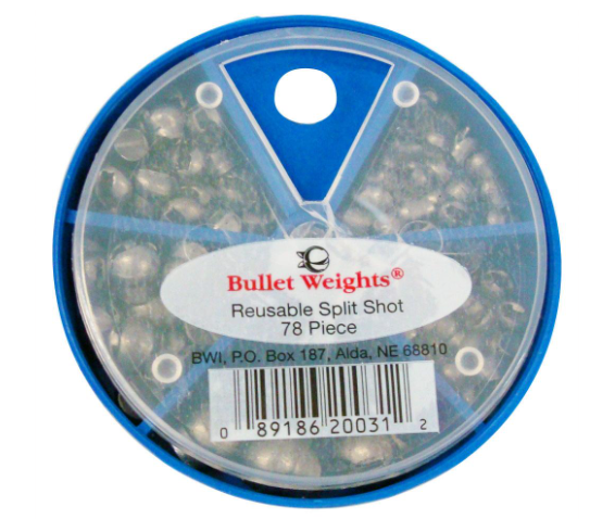 Bullet Weight Rmvable Split Shot Skillet Assortment 78pc