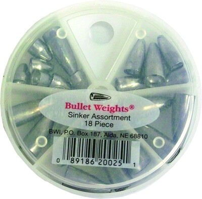 Bullet Weight Skillet Assortment 18pc