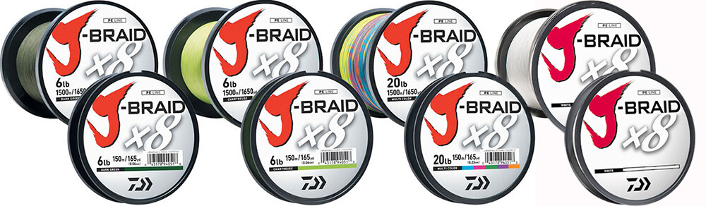 Daiwa J-Braid x8 Braided Line Chartruese