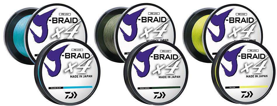 Daiwa J-Braid X4 Braid Fluorescent Yellow
