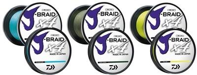 Daiwa J-Braid X4 Braided Line Fluorescent Yellow