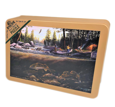Rivers Edge Puzzle in Tin
