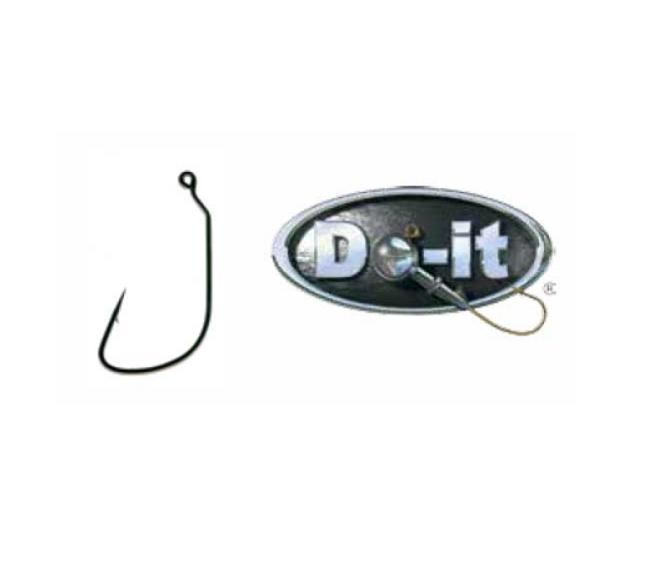 Do-it 785 #2 Wacky Jig Hook Black Chrome #6215