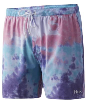 "HUK Tie Dye Volley 5.5"" Shorts"