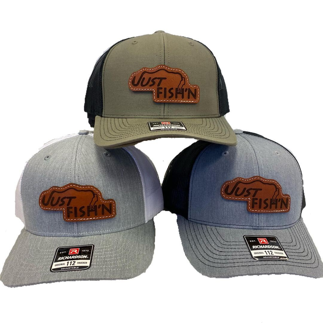 Just Fish'n Custom Leather Patch Hat