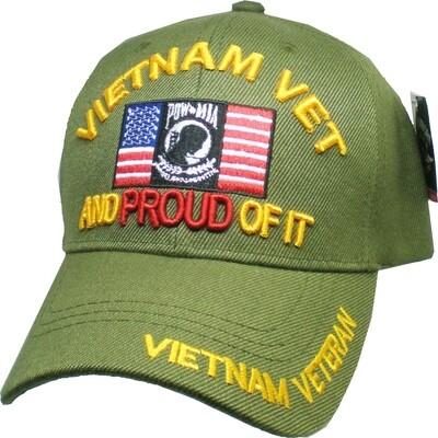 VIETNAM VET AND PROUD OF IT (green)