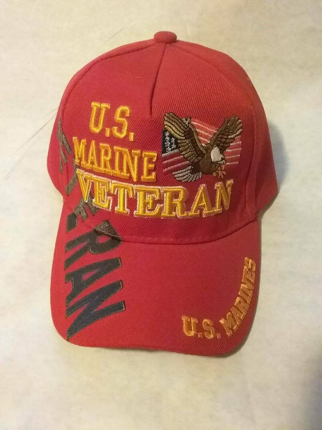 RED MARINE VETERAN (with eagle flag)