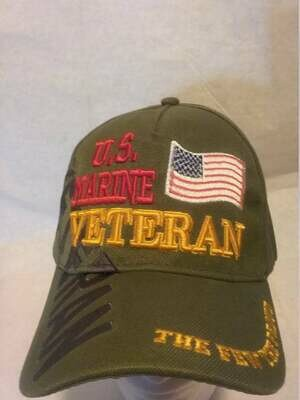 MARINE VETERAN (green with flag)