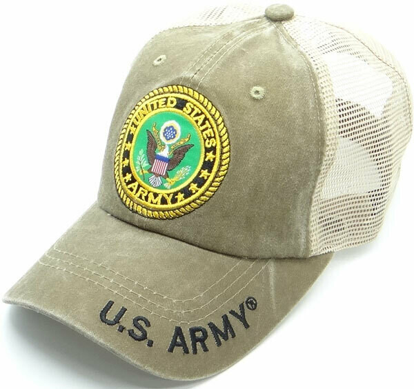 U.S. ARMY (cotton with mesh back)
