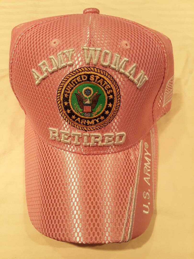 ARMY WOMAN RETIRED (pink summer mesh)
