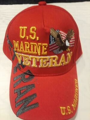 U.S. MARINE VETERAN (red)