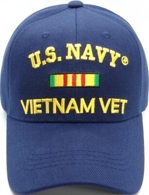 U.S. NAVY VIETNAM VET (blue)