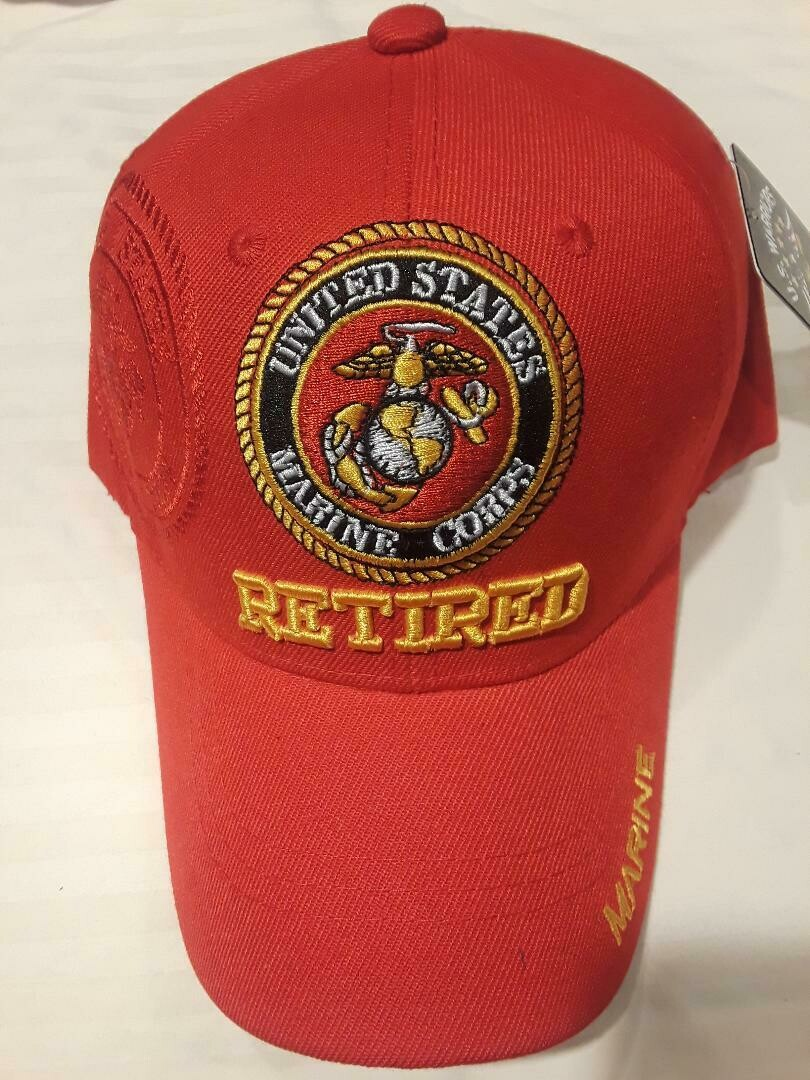 MARINE RETIRED (red)