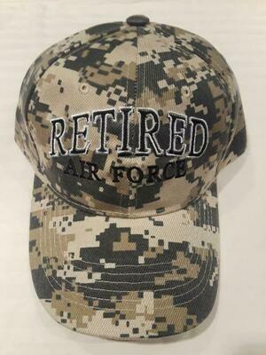RETIRED AIR FORCE (green digi)