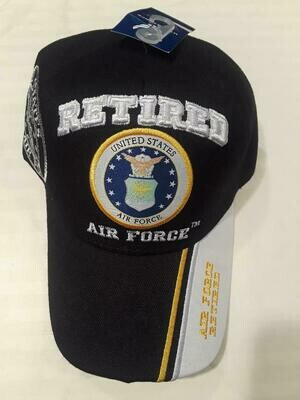 AIR FORCE RETIRED (black)