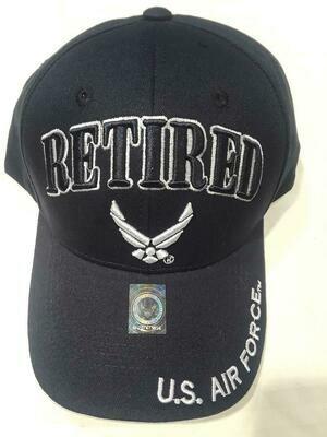 AIR FORCE RETIRED (dark blue)