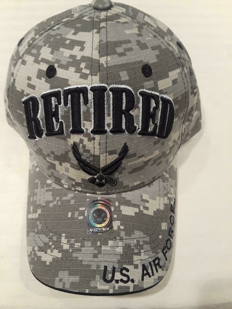 AIR FORCE RETIRED (gray digi)