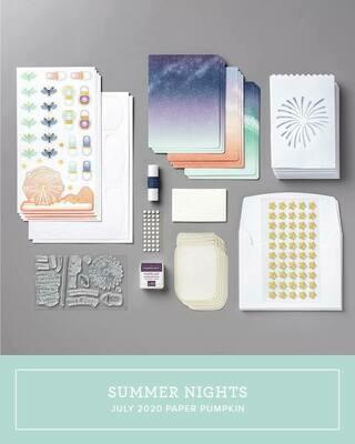 July  2020 Summer Nights Paper Pumpkin Kit