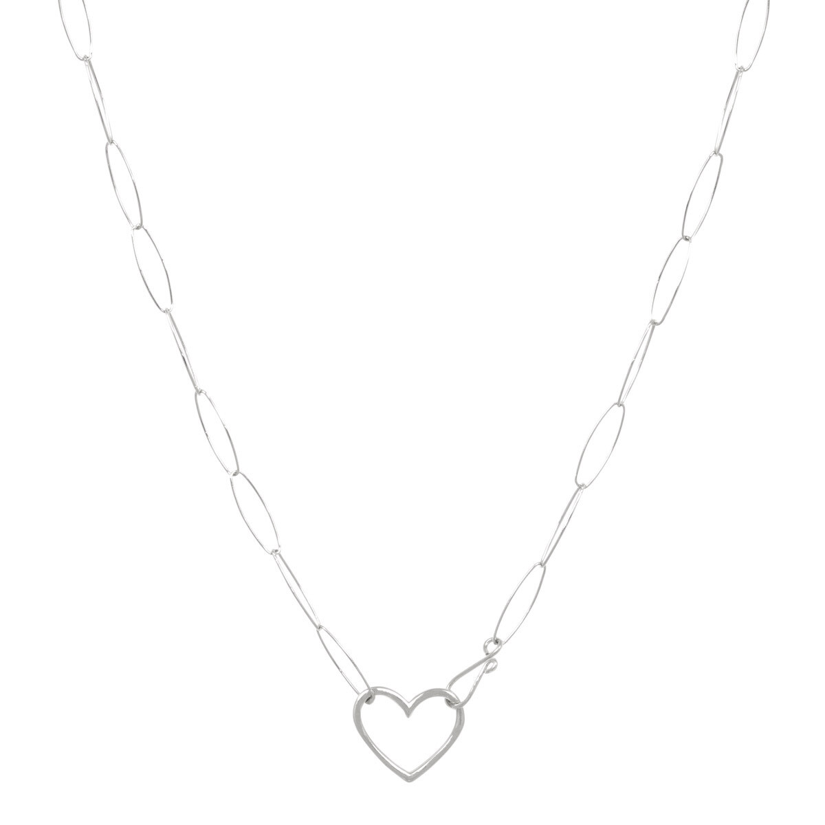 Kette open heart silber