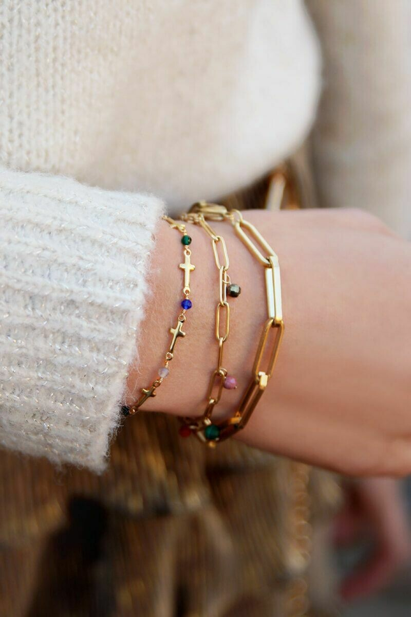 Statement Armband gold