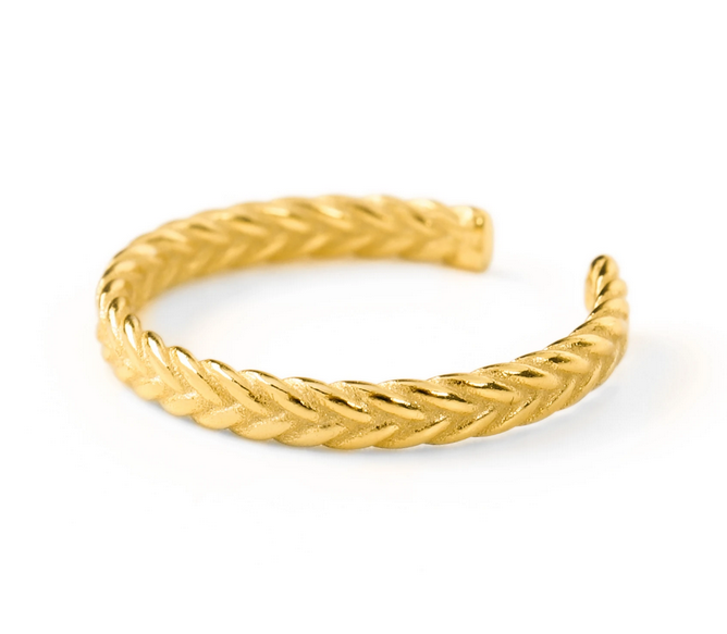 Ring braided love thumb - Gold