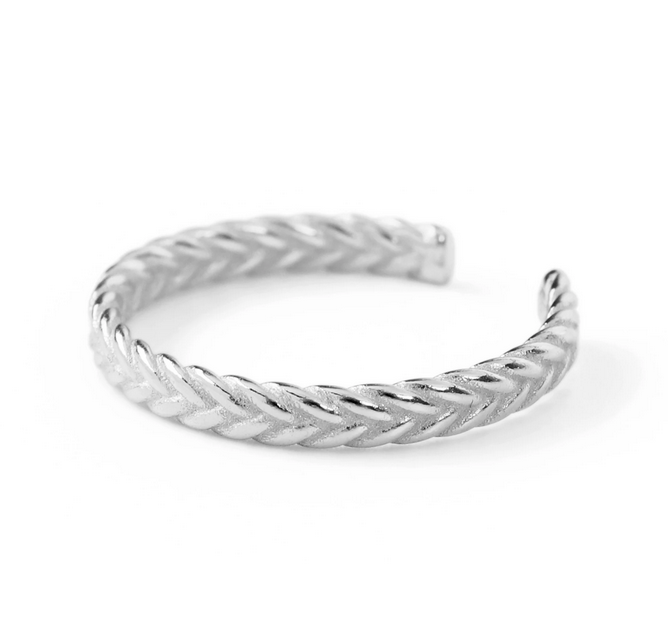 Ring braided love thumb - silber