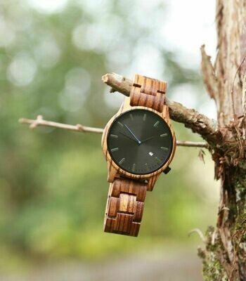 Holz Armband Uhr Zebra wood - for men & woman