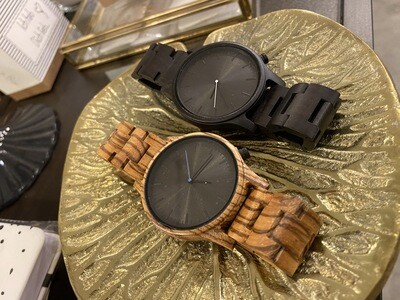 Holz Armband Uhr Zebra wood black - for men & woman