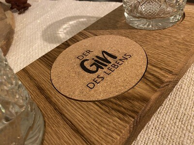 """Untersetzer Set """"Gin des Lebens"""""""