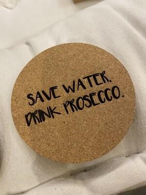 """Untersetzer Set """"save water"""""""